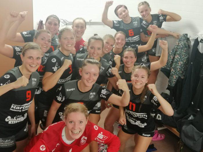Siegerselfie der 1. Frauenmannschaft der HSG OLE beim 19:37-Auswärtssieg gegen die HSG Deizisau-Denkendorf 2.