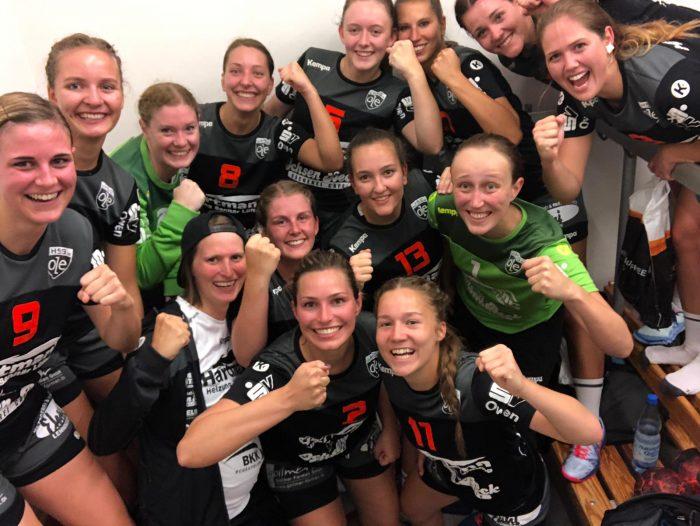 Siegerselfie der 1. Frauenmannschaft der HSG-OLE beim 20:23-Auswärtssieg gegen die HSG Leinfelden-Echterdingen 2